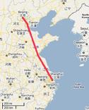 New Beijing to Shanghai High Speed Rail Line